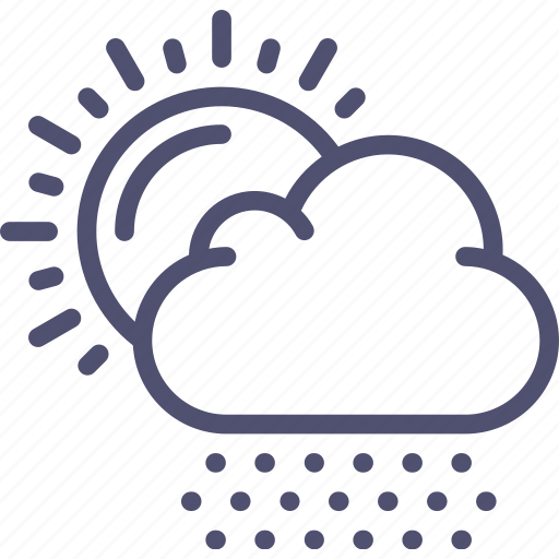 clouds, day, hail, snow, snows, sun, weather icon