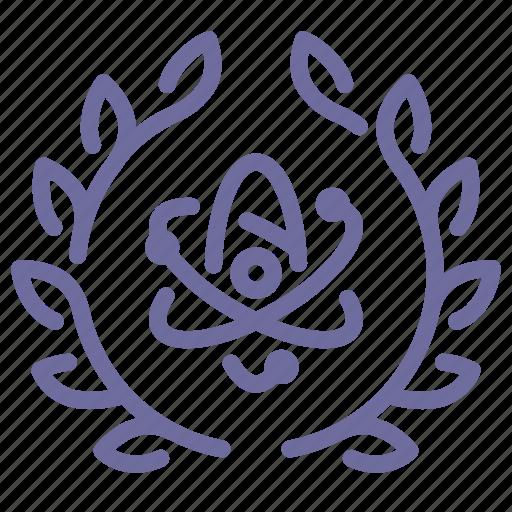badge, science icon