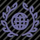 award, global, web, wreath icon