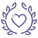 award, heart icon