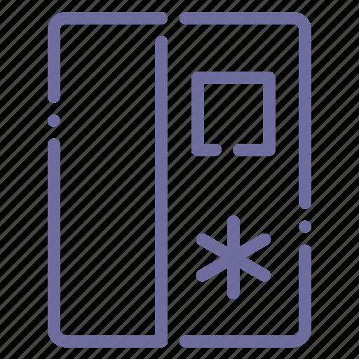 fridge, side by side icon