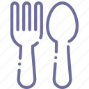 spoon, baby, fork icon