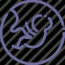 baby, embryo icon
