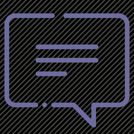 bubble, message icon