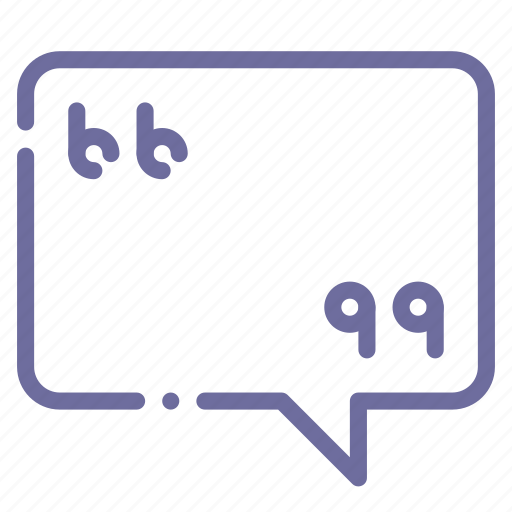 message, quote icon
