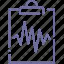 cardiogram, medical, analysis, tests icon