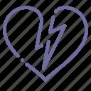 attack, broken, heart, infarct icon