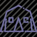 camp, recreation, tent icon