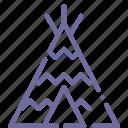 camp, wigwam, tent icon