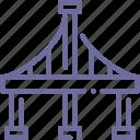 bridge, construction, transport icon