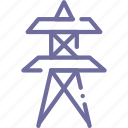 tower, electricity, power, lines icon