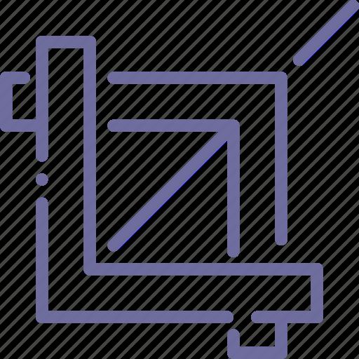 clip, crop, edge, tool icon
