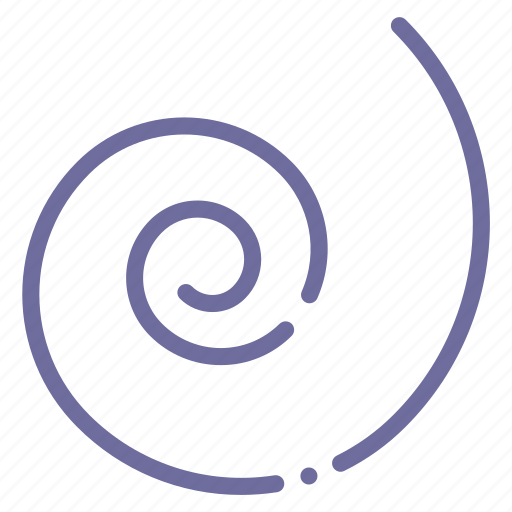 draw, shape, spiral, tool icon