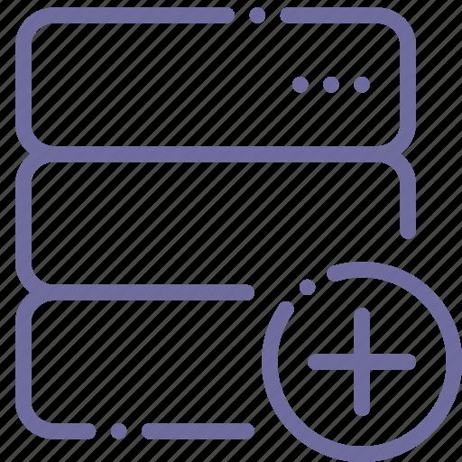 Add, data, database, server icon - Download on Iconfinder