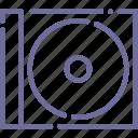 box, cd, disc, dvd icon