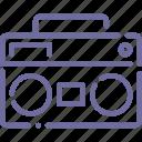 center, music, recorder, speaker icon