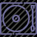 dj, music, turntable, vynil icon