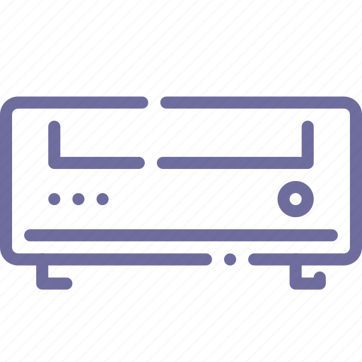 amplifier, dvd, player, receiver icon