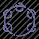 audio, instrument, music, tambourine icon