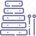 audio, instrument, music, xylophone icon