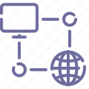computer, connection, internet, network icon