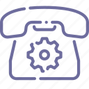 call, device, phone, settings icon