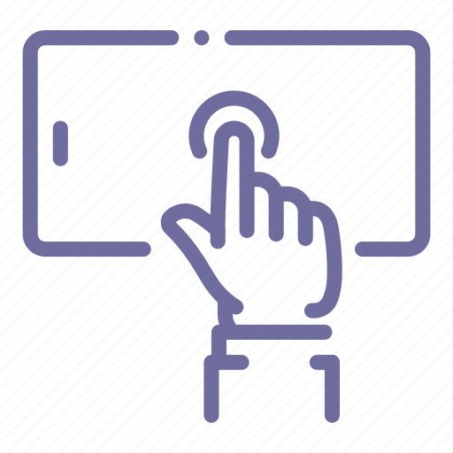 hand, mobile, phone, touch icon