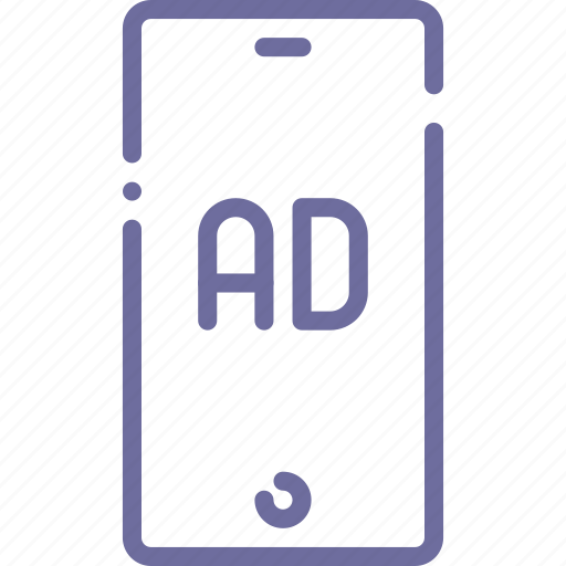 advertisement, advertising, banner, mobile icon