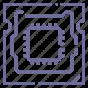 chip, computer, hardware, processor