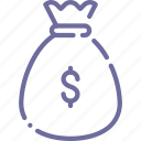 bag, finance, money icon