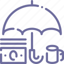 money, protect, umbrella icon