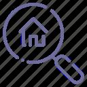 estate, home, house, search icon