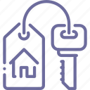 house, key, rent icon