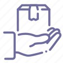 delivery, safe, shipping icon