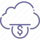 cloud, funding, money icon