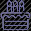 bakery, birthday, cake icon