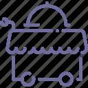 cart, food, room, service icon
