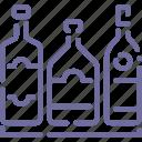 alchohol, bar, bottles, whiskey icon