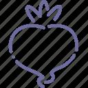 radish, food, turnip, vegetable icon