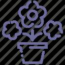 flowers, nature, pot, present icon