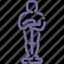 award, cinema, hollywood, oscar icon