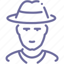 cowboy, human icon