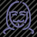 anonym, anonymous, hacker icon