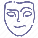 cheerful, face, mask icon