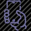 hand, mobile, mockup icon