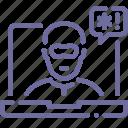 security, thief, threat icon