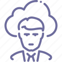 cloud, man, outsource icon