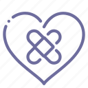 heart, pain, patch icon