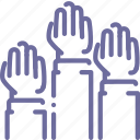 elections, hands icon