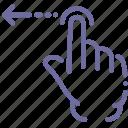 gesture, hand, swipe